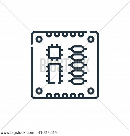 pcb board icon isolated on white background from electrician tools and elements collection. pcb boar