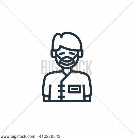patient icon isolated on white background from hospital collection. patient icon thin line outline l