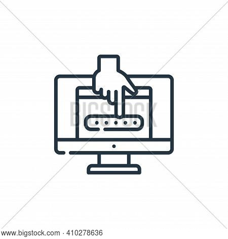 password icon isolated on white background from hacker collection. password icon thin line outline l