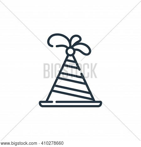 party hat icon isolated on white background from circus collection. party hat icon thin line outline