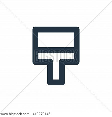 paint brush icon isolated on white background from user interface collection. paint brush icon thin