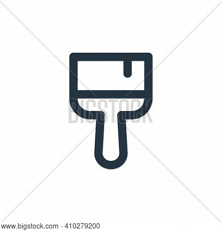 paint brush icon isolated on white background from labour day collection. paint brush icon thin line