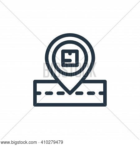order tracking icon isolated on white background from ecommerce collection. order tracking icon thin