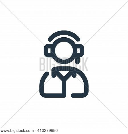 operator icon isolated on white background from shopping collection. operator icon thin line outline