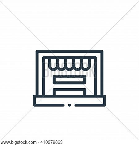 online shop icon isolated on white background from online shopping collection. online shop icon thin