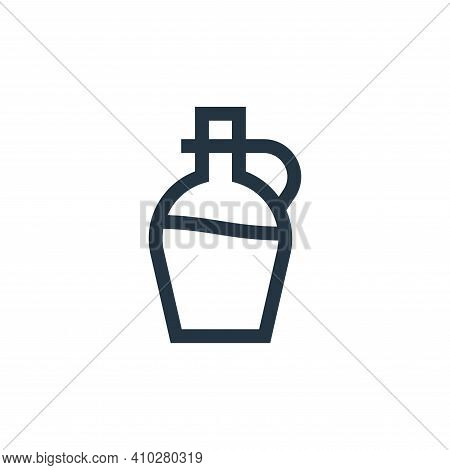 olive oil icon isolated on white background from vegan collection. olive oil icon thin line outline