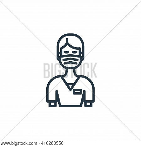 nurse icon isolated on white background from virus transmission collection. nurse icon thin line out