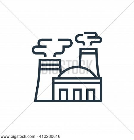 nuclear plant icon isolated on white background from climate change collection. nuclear plant icon t