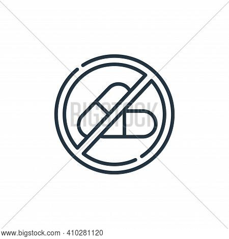no drugs icon isolated on white background from signals and prohibitions collection. no drugs icon t