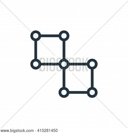 network icon isolated on white background from business collection. network icon thin line outline l