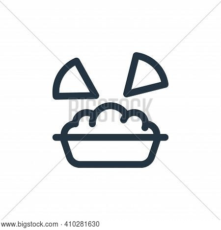 nachos icon isolated on white background from mexico collection. nachos icon thin line outline linea