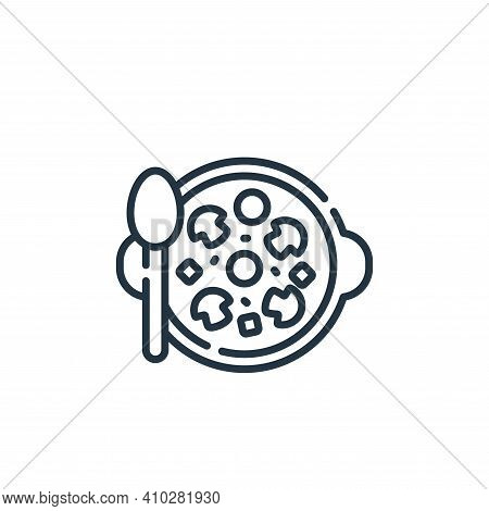 mushroom icon isolated on white background from vegan food collection. mushroom icon thin line outli