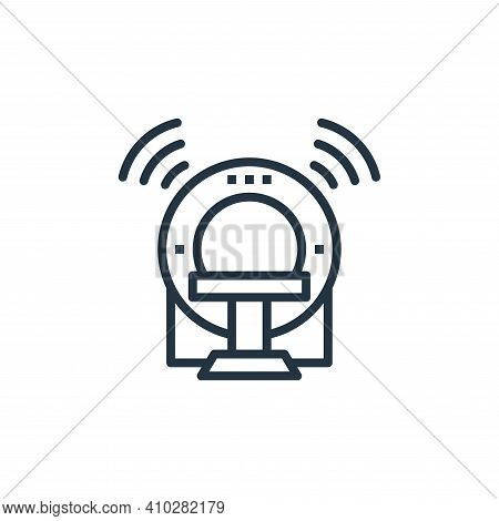 mri icon isolated on white background from internet of things collection. mri icon thin line outline