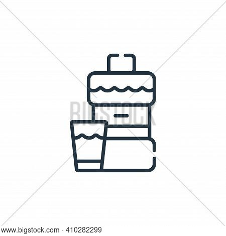 mouthwash icon isolated on white background from bathroom collection. mouthwash icon thin line outli