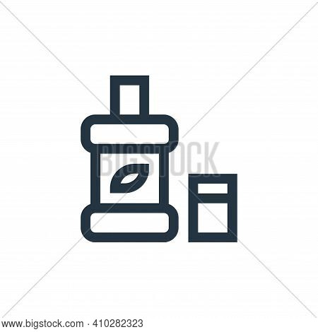 mouthwash icon isolated on white background from pharmacy collection. mouthwash icon thin line outli