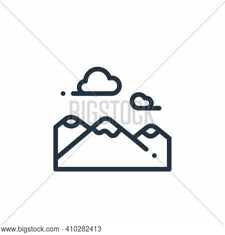mountains icon isolated on white background from in the village collection. mountains icon thin line