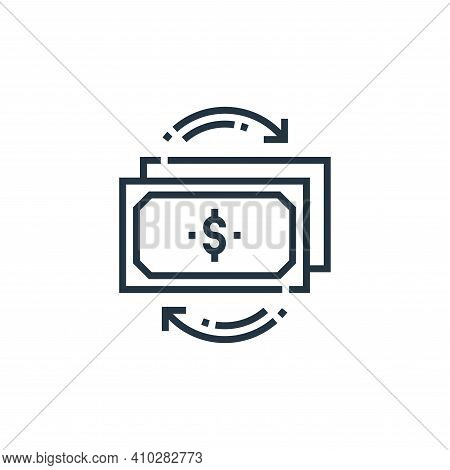 money icon isolated on white background from marketing collection. money icon thin line outline line