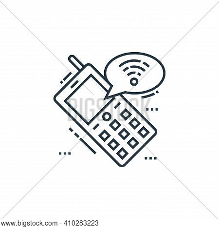 mobile chat icon isolated on white background from technology devices collection. mobile chat icon t