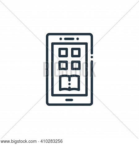 mobile app icon isolated on white background from online learning collection. mobile app icon thin l