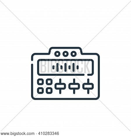 mixer icon isolated on white background from music collection. mixer icon thin line outline linear m