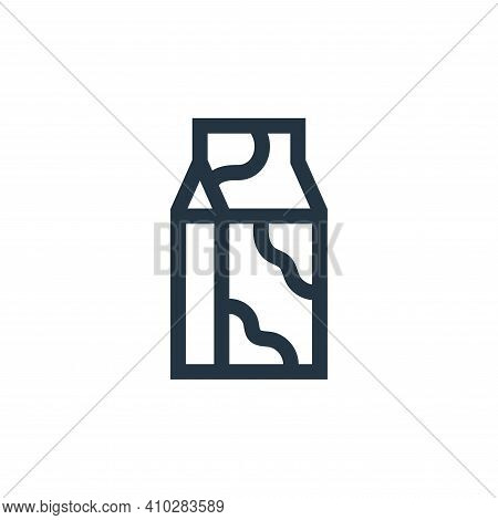 milk icon isolated on white background from nutrition collection. milk icon thin line outline linear