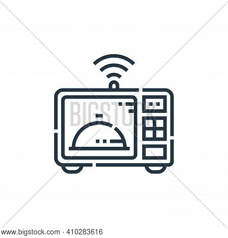 microwave icon isolated on white background from smarthome collection. microwave icon thin line outl