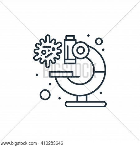 microscope icon isolated on white background from coronavirus collection. microscope icon thin line