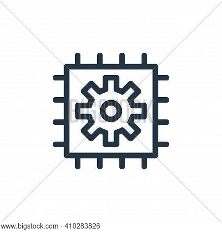 microchip icon isolated on white background from technology collection. microchip icon thin line out
