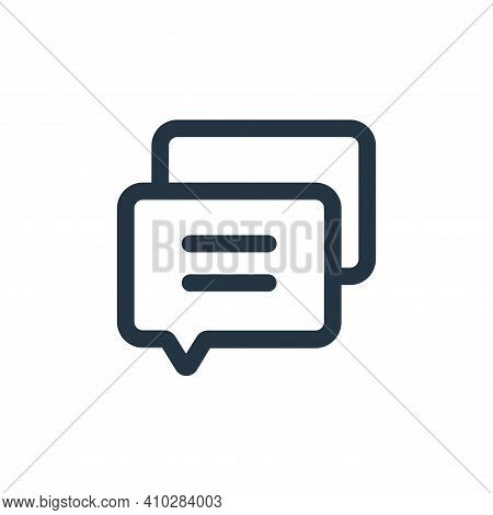 message icon isolated on white background from interface collection. message icon thin line outline