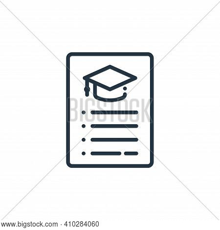 menu icon isolated on white background from online learning collection. menu icon thin line outline