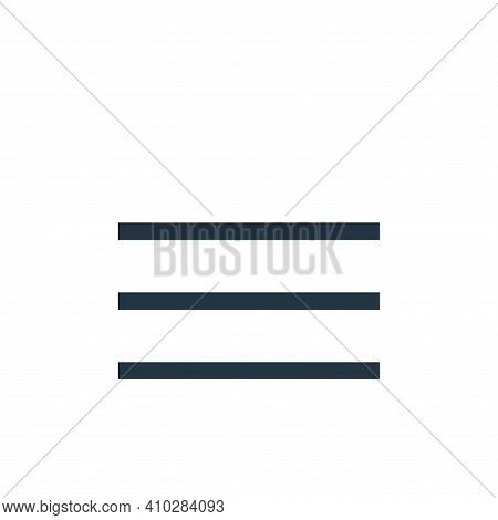 menu icon isolated on white background from email collection. menu icon thin line outline linear men