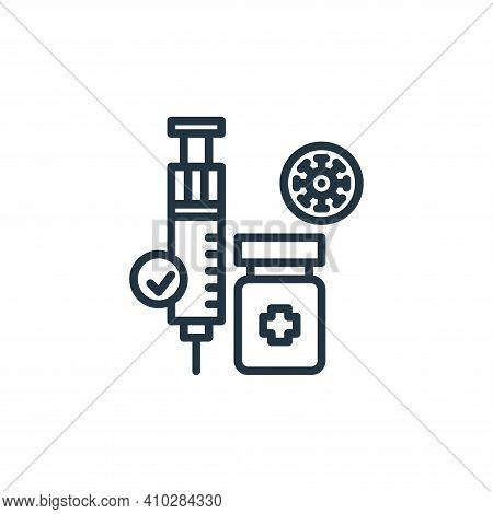 medicine icon isolated on white background from virus collection. medicine icon thin line outline li