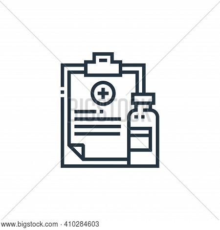 medical prescription icon isolated on white background from medical services collection. medical pre