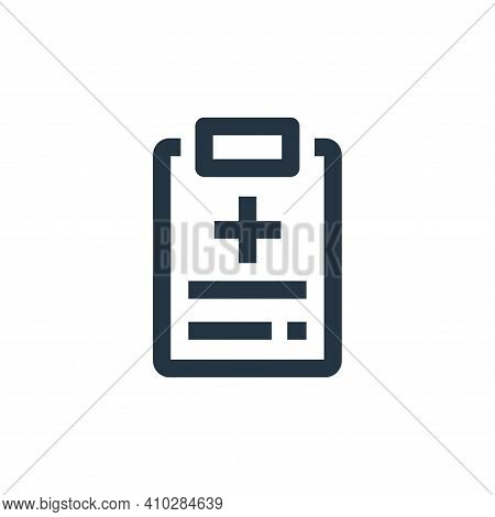 medical prescription icon isolated on white background from medical kit collection. medical prescrip