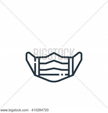 medical mask icon isolated on white background from medical services collection. medical mask icon t
