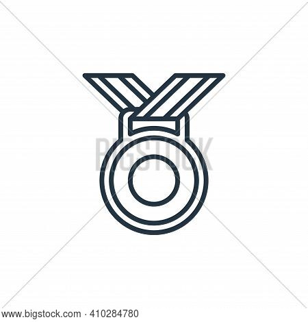 medal icon isolated on white background from management collection. medal icon thin line outline lin