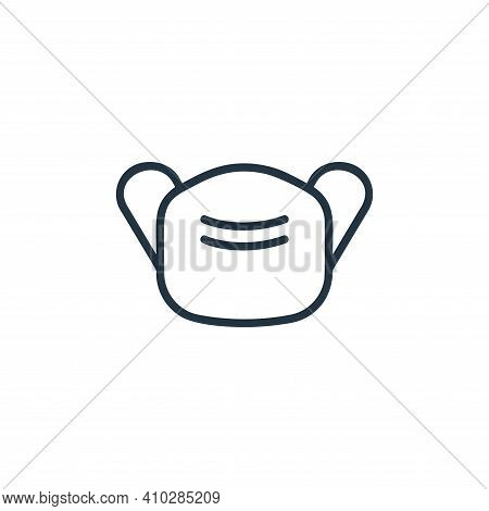mask icon isolated on white background from covid collection. mask icon thin line outline linear mas