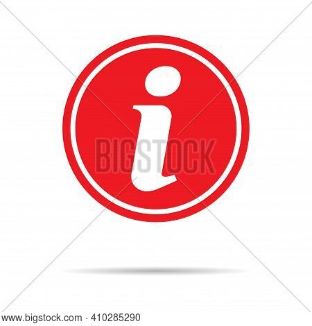 Information Help Icon, Helpdesk Info Bubble Desk. Vector Sing Isolated On White Background .
