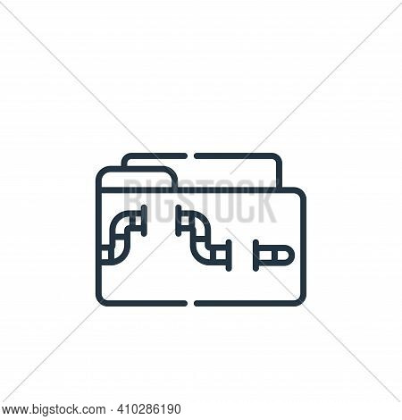 malware icon isolated on white background from hacker collection. malware icon thin line outline lin