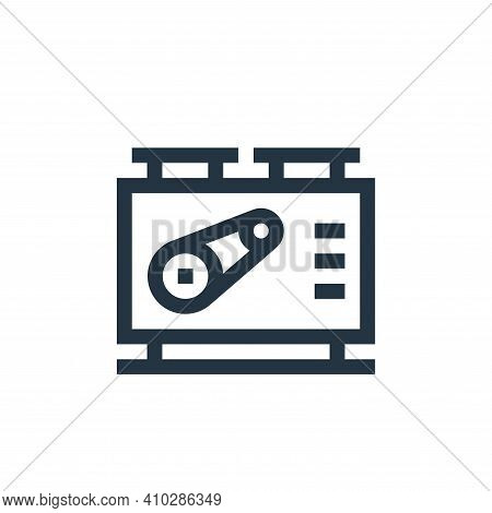 machine icon isolated on white background from manufacturing collection. machine icon thin line outl