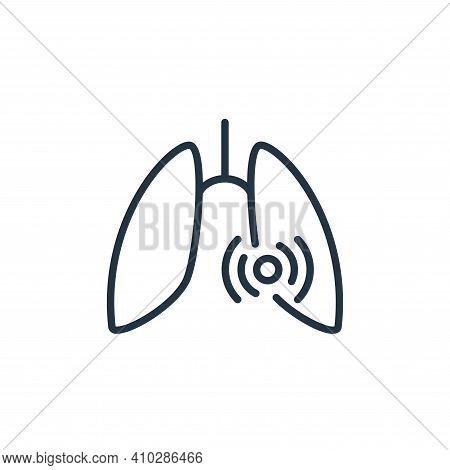 lungs icon isolated on white background from stop virus collection. lungs icon thin line outline lin