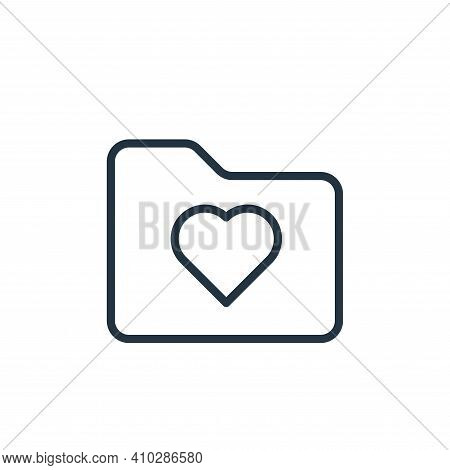 love icon isolated on white background from folder collection. love icon thin line outline linear lo
