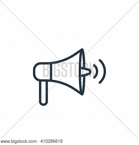 loudspeaker icon isolated on white background from communication collection. loudspeaker icon thin l