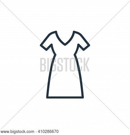 long dress icon isolated on white background from wardrobe collection. long dress icon thin line out