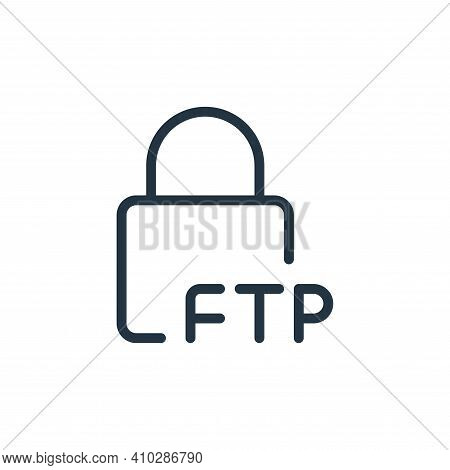 lock icon isolated on white background from data transfer collection. lock icon thin line outline li