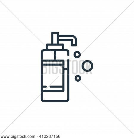 liquid soap icon isolated on white background from hygiene routine collection. liquid soap icon thin