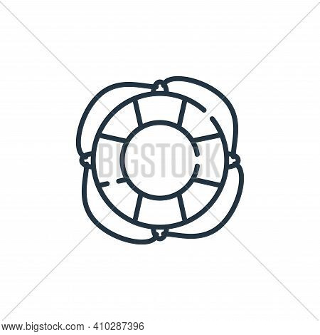lifebuoy icon isolated on white background from hope collection. lifebuoy icon thin line outline lin