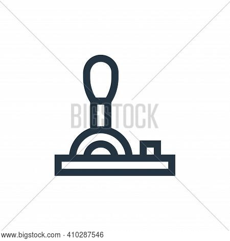 lever icon isolated on white background from industrial process collection. lever icon thin line out