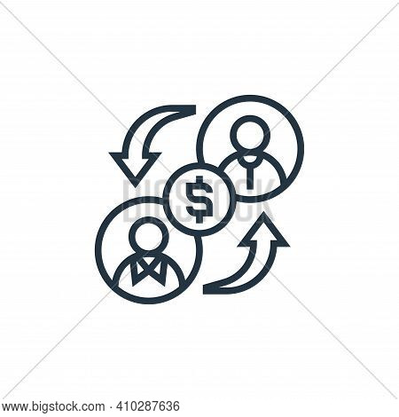 lending icon isolated on white background from payment element collection. lending icon thin line ou