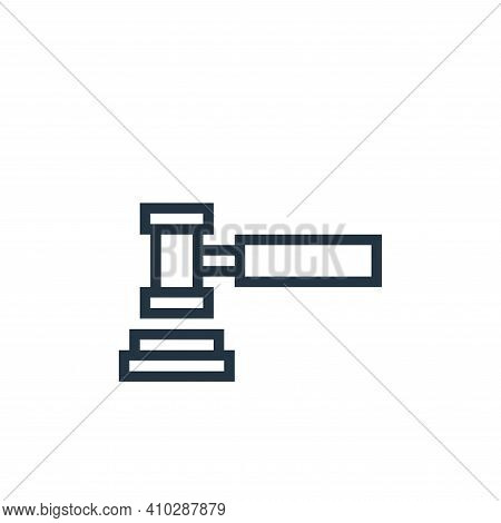 law icon isolated on white background from finance collection. law icon thin line outline linear law